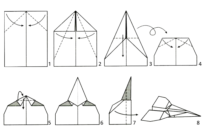 Best Paper Airplane Designs Step By Step